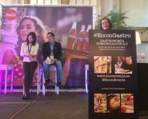 Tere, Juan Carlos Alonso y Loleta en el EcomGastro