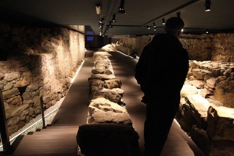 Resstos de la muralla de Santander