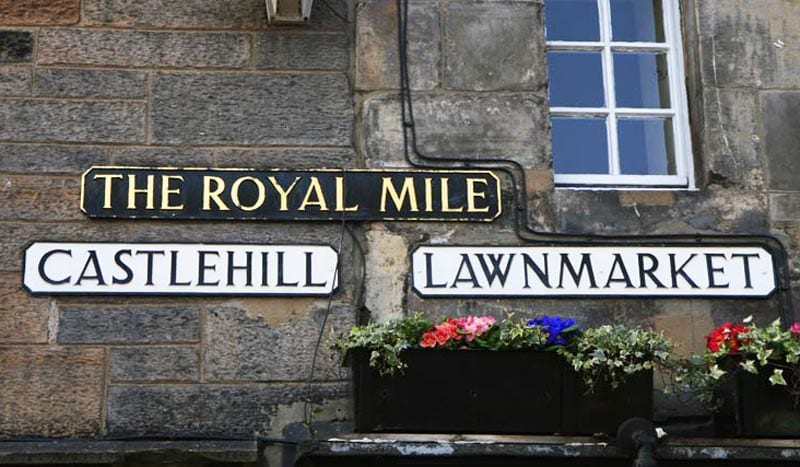 La Royal Mile tiene 2 kilómetros de largo