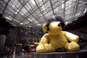 El oso Teddy es la mascota de Hamad