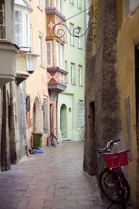 En todo el casco histórico las casas son de colores