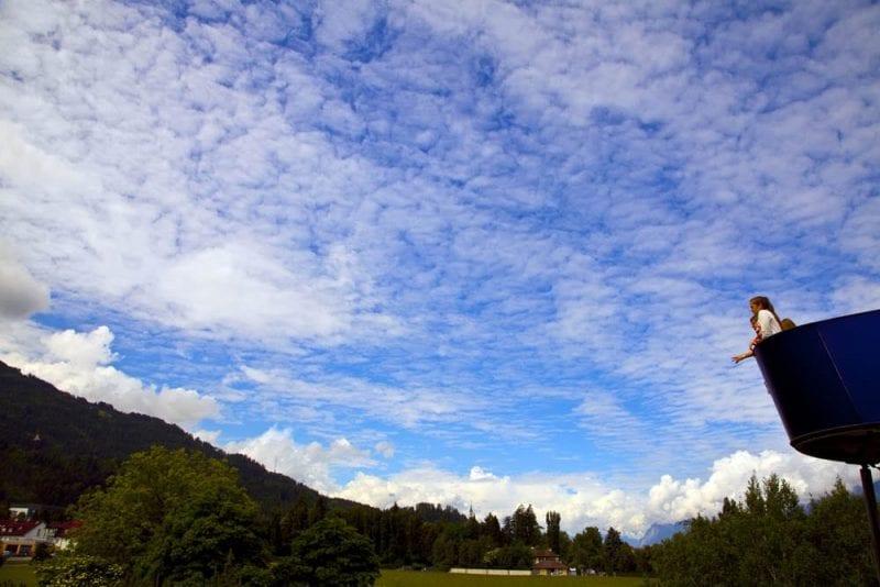 Mirador a los Alpes en el museo