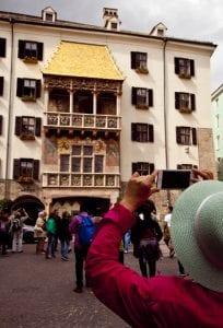 El tejado de oro es el monumento más fotografiado de Innsbruck