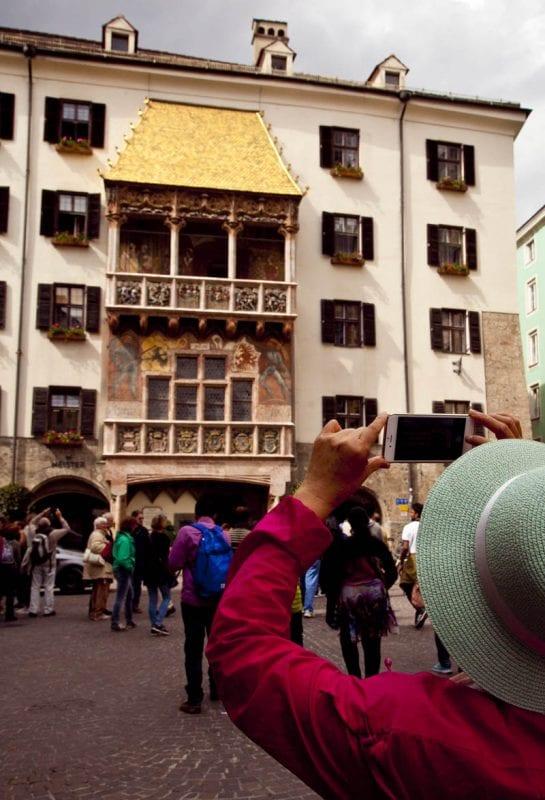 El tejado de oro es el monument más fotografiado de Innsbruck