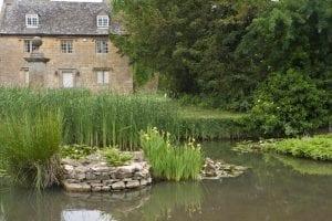 Detalle de un jardín cualquiera de los Cotswolds