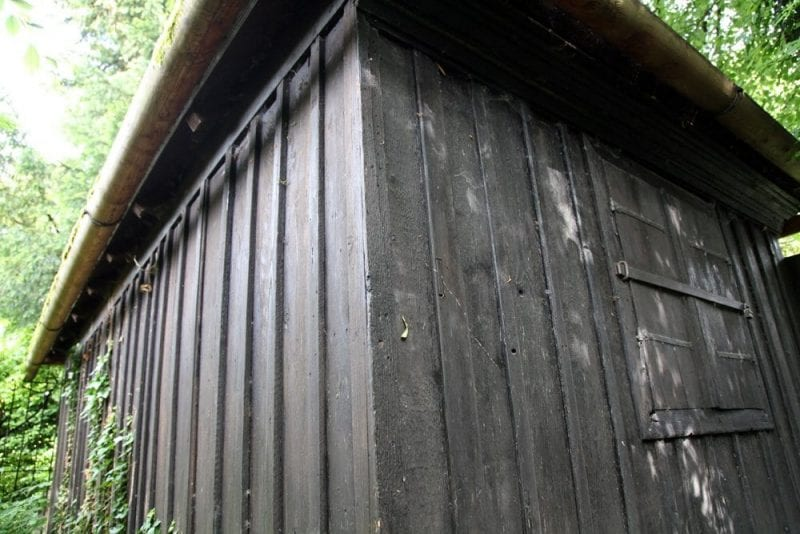 Detalle de la cabaña donde Mozart remató La Flauta Mágica