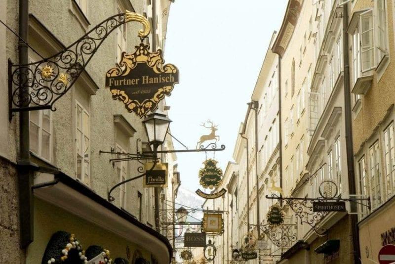 La Getreidegasse es la calle más fotografiada de Slazburgo