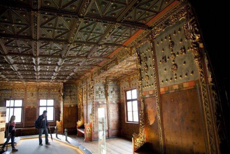 La cámara dorada, habitación más hermosa de Hohensalzburg