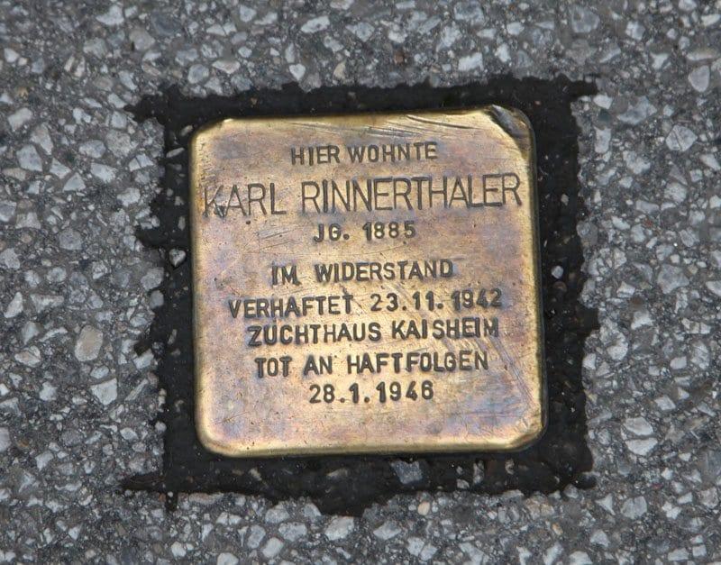 Salzburgo piedra del tropiezo