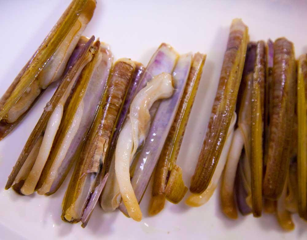 Deliciosas las navajas de La Mulata