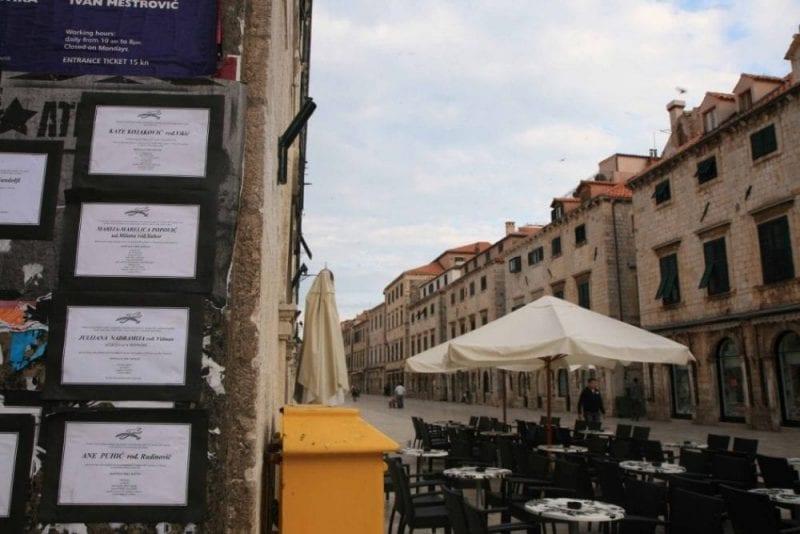 Detalles de Dubrovnik que recuerdan tiempos pasados
