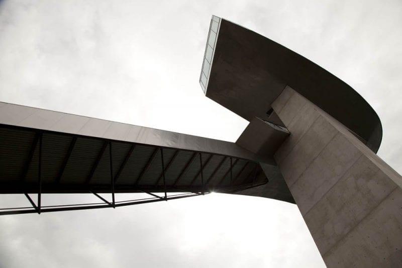 Vista de la estructura de Bergisel