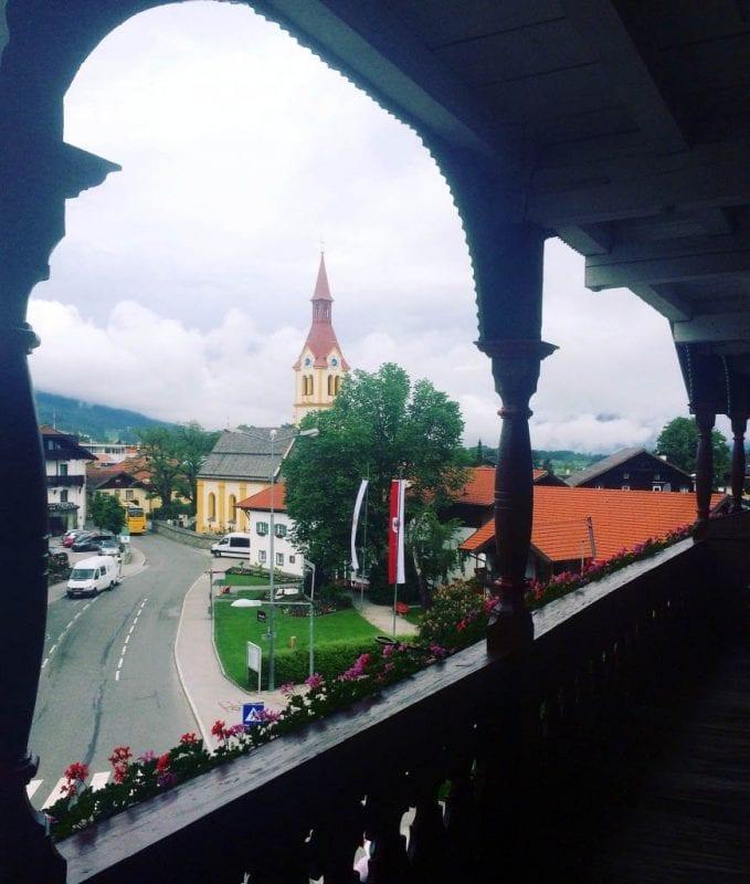 Vistas de Igls desde el Sporthotel