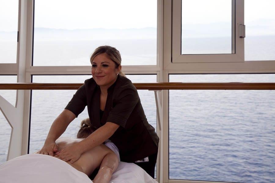 Masajes a bordo, opción muy relajante