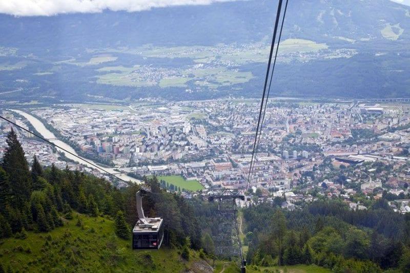 Panorámica de Innsbruck desde el funicular