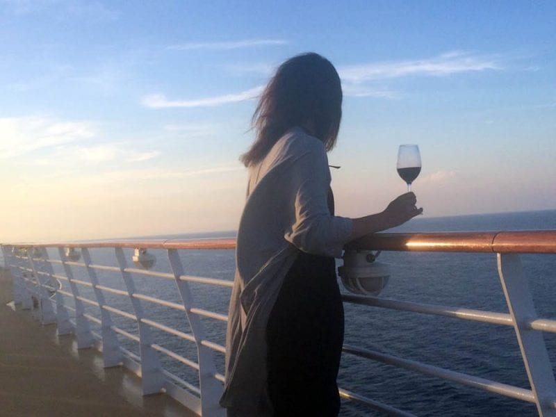 Un vino al atardecer