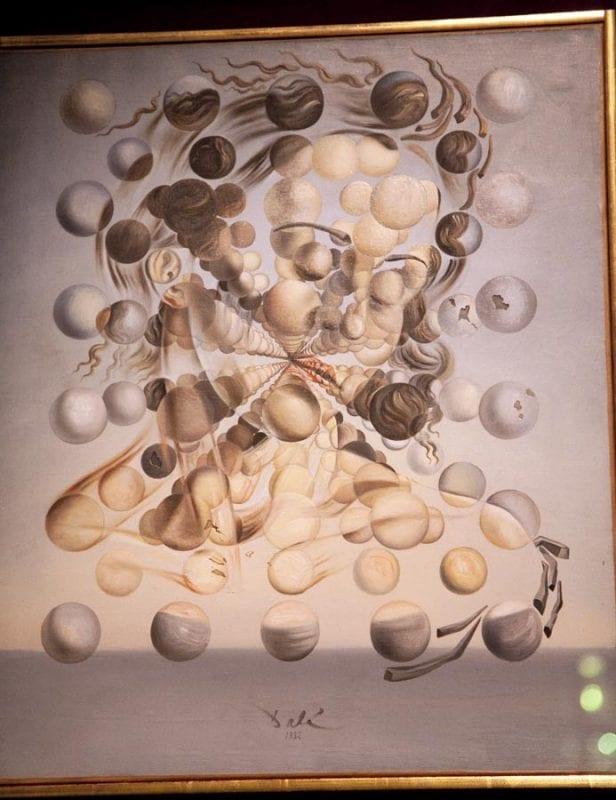Imagen de Gala creada con esferas como átomos