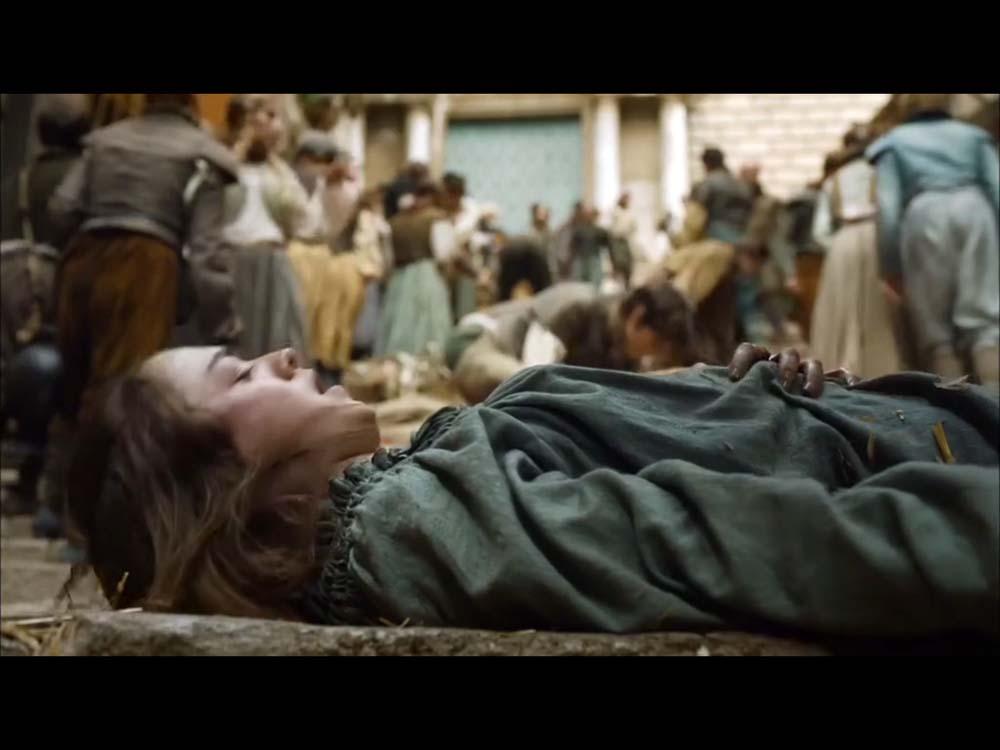 Arya stark en una de las escenas de la persecución en la cuesta de San Martí