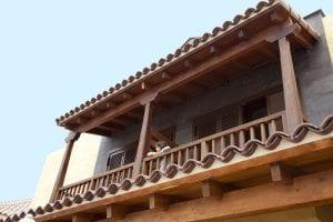 Balcón de la villa señorial