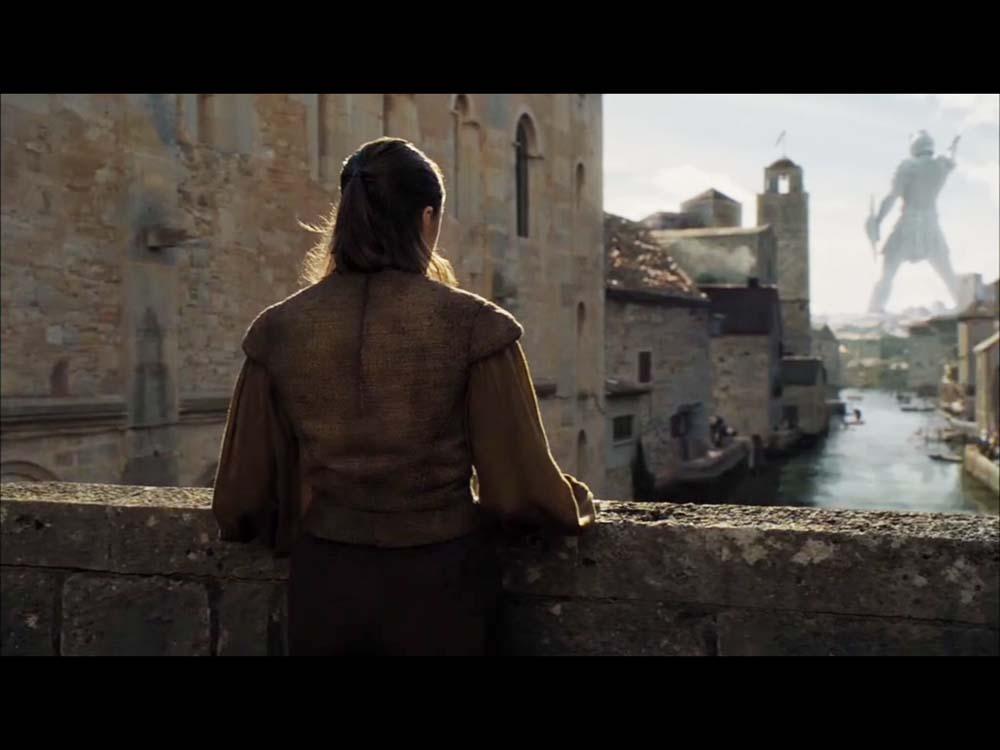 Girona se convierte en Braavops en las escenas donde aparece Arya Stark