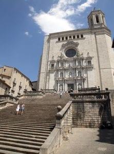 La catedral de Girona está en el punto más alto de la ciudad