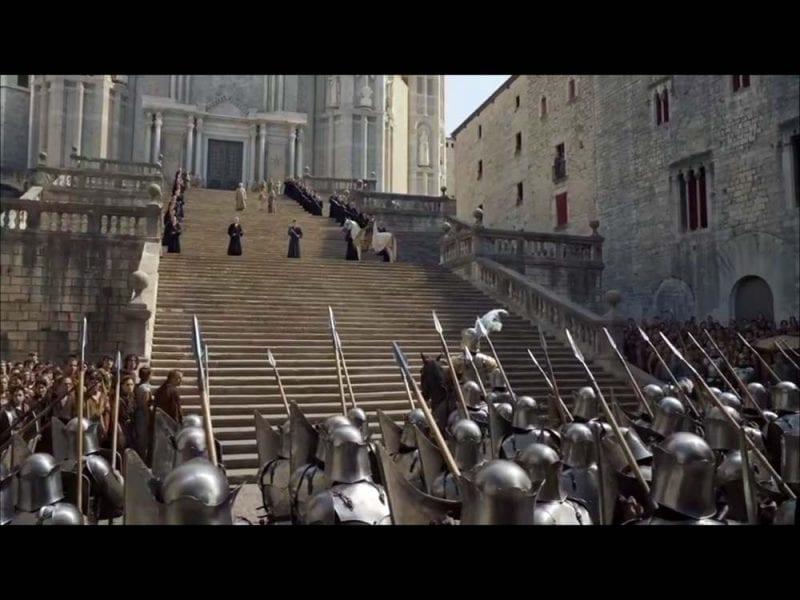 Escena de la catedral de Girona en Juego de Tronos