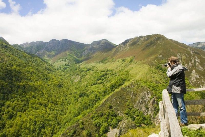 Panorámica de los montes de Asturias