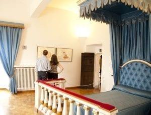 Dormitorio de Gala en el castillo de Pubol