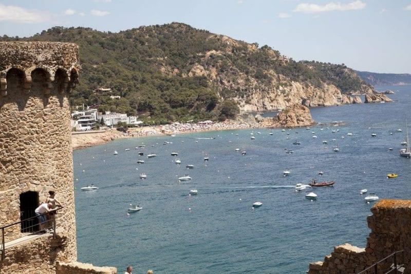La fortaleza de Tossa del Mar data del S XII