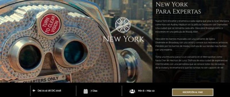 Programa viaje a Nueva York con Nani Arenas y Focus On Women