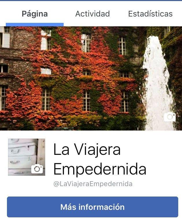 Portada en Facebook de La Viajera Empedernida