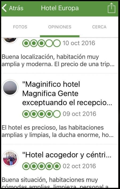 Opiniones de un hotel en Jaén