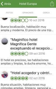 Opiniones de un hotel en Jaen