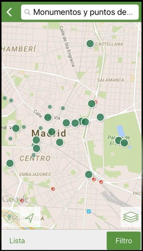 Mapa callejero de Madrid