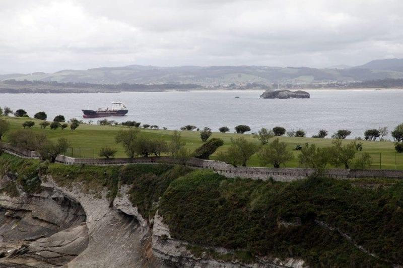 Vistasd de Santander desde el campo de golf de Mataleñas
