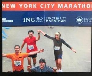 """I'm a finisher"" En la meta del NYC Maratón en 2010"
