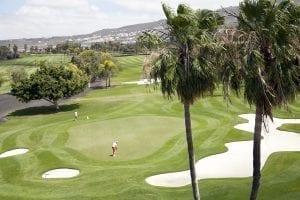 Panorámica del campo de Golf Costa Adeje desde la casa club
