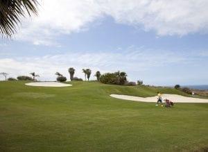 Detalle del campo de golf Costa Adeje