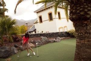 Mini golf del hotel