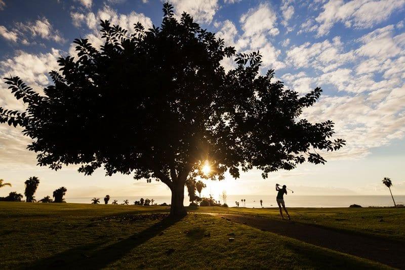 Golf al atardecer en Tenerife