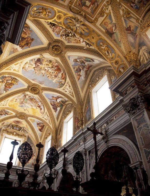 Detalle de los frescos de la cartuja de San Martino