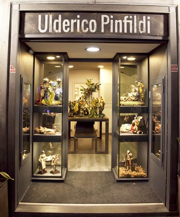 Tienda taller de figuras de belén en Nápoles