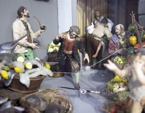 Detalle de un robo en una natividad napolitana