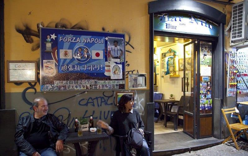 En el bar Nilo se rinde homenaje a Maradona