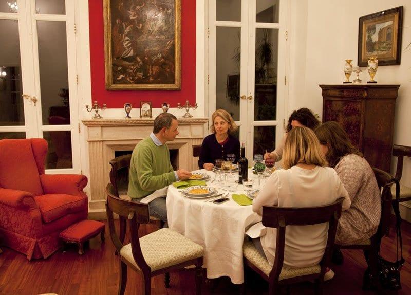 Cena en casa de los Testai en Nápoles