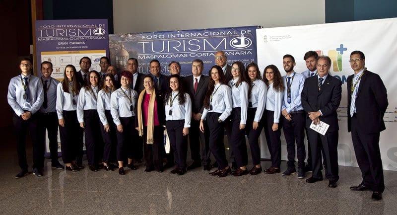 Parte del equipo que ha hecho posible el IV Foro Internacional Maspalomas Costa Canaria