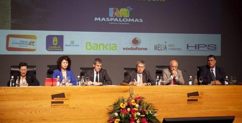 Autoridades durante la inauguración del IV Foro de Turismo Internacional Maspalomas Costa canaria