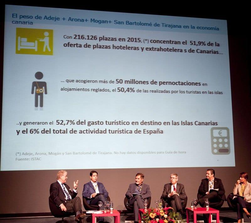 Mesa con los alcaldes de los destinos turísticos de Canarias