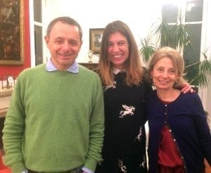 Con mis anfitriones, la familia Testai en Nápoles