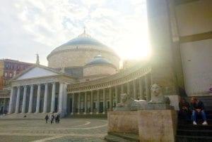 Plaza del Plebiscito en Nápoles
